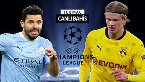 Devler Liginde çeyrek final zamanı Manchester Citynin Dortmund karşısında iddaa oranı...