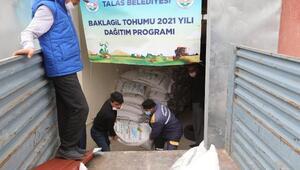 Talas Belediyesi'nden çiftçilere tohum desteği