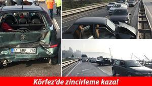 Kocaelide 7 aracın karıştığı zincirleme trafik kazası: 6 yaralı