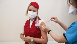 THY ekibi aşı olmaya başladı