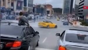 Ümraniyede otomobiliyle drift atan sürücü yakalandı