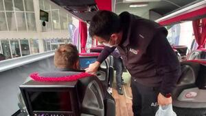 AFADtan otobüs yolcularına videolu afet farkındalık eğitimi