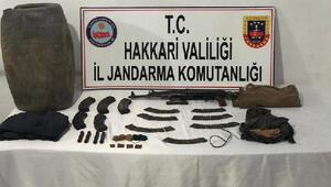 Şemdinlide PKKlı teröristlere ait silah ve mühimmatı ele geçirildi