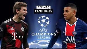 Şampiyonlar Liginde DEV EŞLEŞME Bayernin PSG karşısında galibiyetine iddaada...