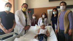 Eymenin başına isabet eden yorgun mermi ameliyatla çıkarıldı