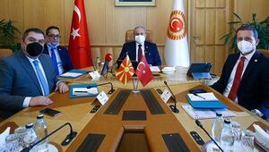 TBMM Başkanı Mustafa Şentop, Kuzey Makedonya Adalet Bakanı Bojan Marichijki kabul etti