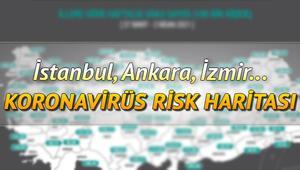 İllere göre koronavirüs risk haritası... Türkiye geneli il il covid-19 yoğunluk haritasında vaka sayıları 5 ilde arttı