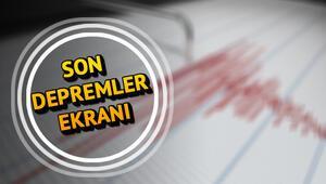 Muğlada son dakika deprem mi oldu Nerede deprem oldu İşte 8 Nisan Kandilli son depremler haritası