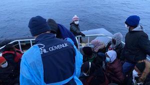 Balıkesirde 68 kaçak göçmen kurtarıldı