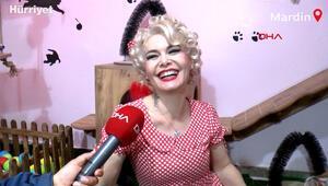 Mardinli Marilyn Monroe, kedi sığınma evi kurdu