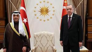 Cumhurbaşkanı Erdoğan, Kuveyt Dışişleri Bakanı El-Sabahı kabul etti