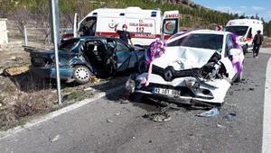 Konyada zincirleme kaza 7 kişi yaralandı