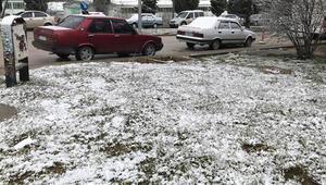 Bilecikte nisan ayında kar yağdı