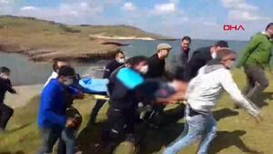 İzmirde askeri uçak düştü İlk görüntüler