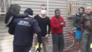 Yangında mahsur kalan 7si çocuk, 10 kişiyi itfaiye kurtardı