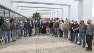 Sanayi esnafından Başkan Tarhan'a teşekkür ziyareti