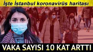 İstanbul risk haritası Bakan Koca vaka sayısını duyurdu