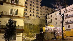 Çankayada temeli kayan bina nedeniyle çok sayıda bina boşaltıldı