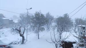 Mersinin yüksek kesimlerinde kuvvetli kar yağışı