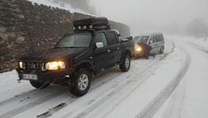 Samsunda yüksek kesimlerinde kar yağışı etkili oluyor