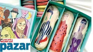 Hem tatlıların hem kadınların renkleri bu kutularda