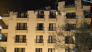 Ankaradaki Açelya Apartmanının çatısı çöktü