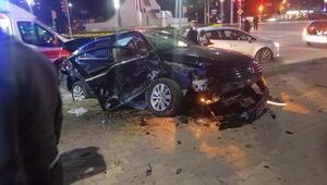 Elazığda kısıtlama saatinde zincirleme kaza: 5 yaralı