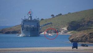 İzmirde denize düşen uçağın enkazı çıkarıldı