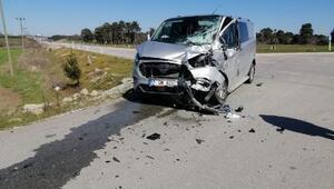 Çanakkalede trafik kazası: 1 yaralı