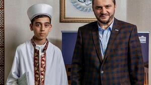 Almanyada yaşayan 12 yaşındaki Muhammed Talha, Kuran-ı Kerimin tamamını tek seferde okudu