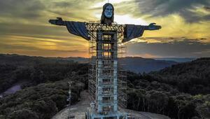 Brezilyaya ikonik Kurtarıcı İsa heykelinden daha uzun bir İsa heykeli inşa ediliyor