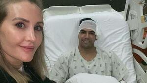 Son Dakika: Galatasarayda ameliyat olan Falcaonun ilk görüntüsü