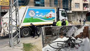 Arnavutköyde çöp kamyonunun altında kalan bisikletli hayatını kaybetti