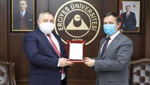ERÜ Rektörü Çalıştan Prof. Dr. Demirtaşa tebrik