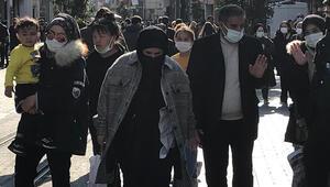 Koronavirüs önlemleri hiçe sayıldı... İstiklal Caddesi doldu taştı