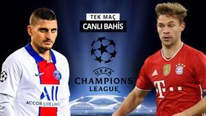 Münihte kazanan PSG, büyük bir avantaja sahip 3-2nin rövanşında Bayerne verilen iddaa oranı...