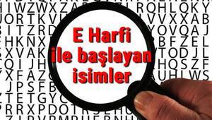 E Harfi ile başlayan hayvan, şehir, ülke, isim, eşya, bitki, çiçek, meyve, kuş ve ünlü (Artist) isimleri