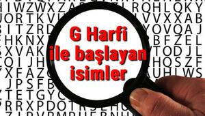 G Harfi ile başlayan hayvan, şehir, ülke, isim, eşya, bitki, çiçek, meyve, kuş ve ünlü (Artist) isimleri