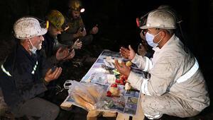Maden işçileri ilk sahurlarını yerin metrelerce altında yaptı