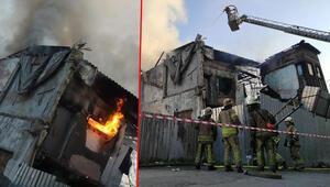 İstanbul Fatihte yangın paniği Tüm binayı sardı