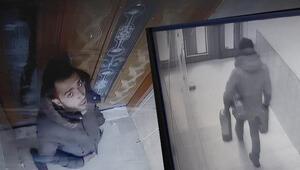 Esenyurtta hırsızlık anı kameraya yansıdı