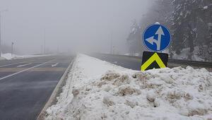 Bolu Dağında yoğun sis etkili oldu