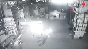 Güngörende sürüngen hırsızlar kamerada