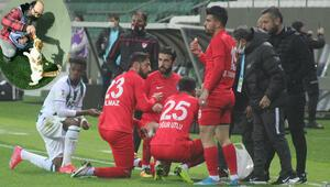 Giresunspor - Ankara Keçiörengücü maçında futbolcular oruçlarını sahada açtı
