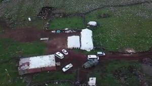 Şanlıurfada drone destekli şafak operasyonunda silah ve mühimmat ele geçirildi
