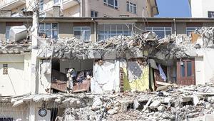 Çökme riski bulunan Açelya Apartmanının bulunduğu bölge 24 saat lazer tarayıcılarla izleniyor