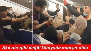 Tunus - İstanbul uçağındaki kavga dünya basınında