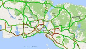 Kısmi kapanma öncesi İstanbul trafiğinde yoğunluk