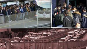 İstanbulda kısıtlama öncesi aşırı yoğunluk Ne adım atacak yer kaldı ne de kapılar kapandı
