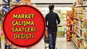 Hafta içi ve hafta sonu marketlerin çalışma saatleri değişti Marketler kaçta açılıyor, kaçta kapanıyor